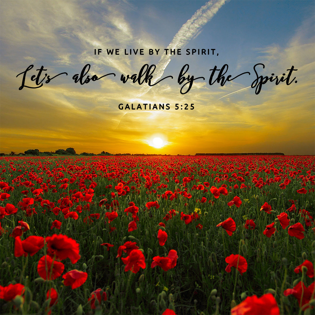Galatians 5:25 - Walk by the Spirit - Bible Verses To Go