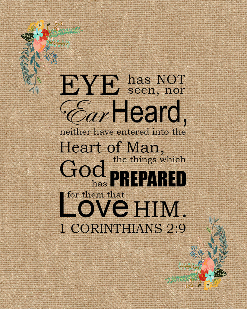 1 Corinthians 2:9 - Eye Hath Not Seen - Bible Verses To Go