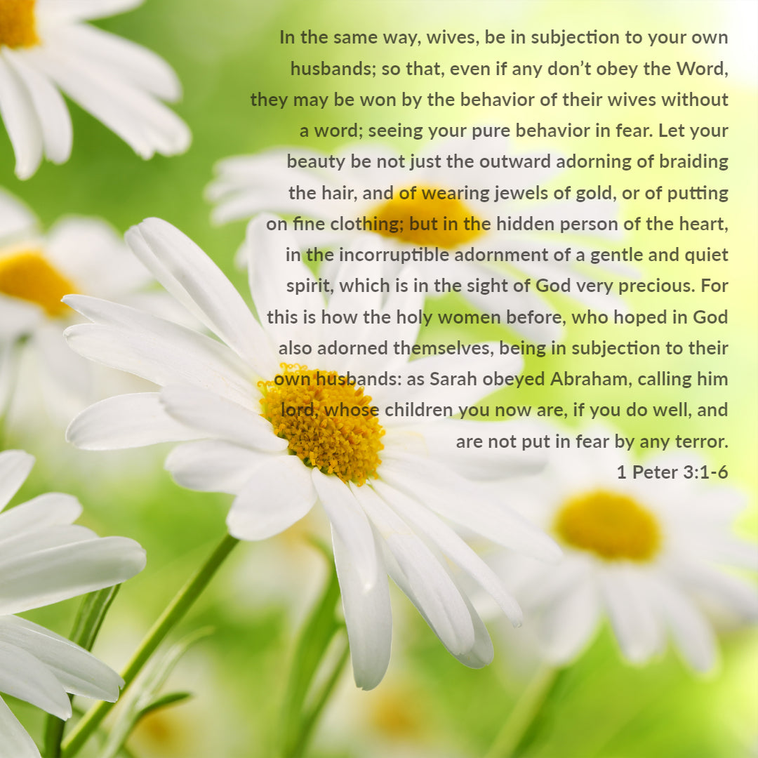 1 Peter 3:1-6 - Beauty More Than Adorning - Bible Verses To Go