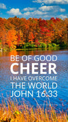 Christian Wallpaper - Autumn Lake John 16:33