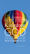 Christian Wallpaper – Balloon Matthew 6:33