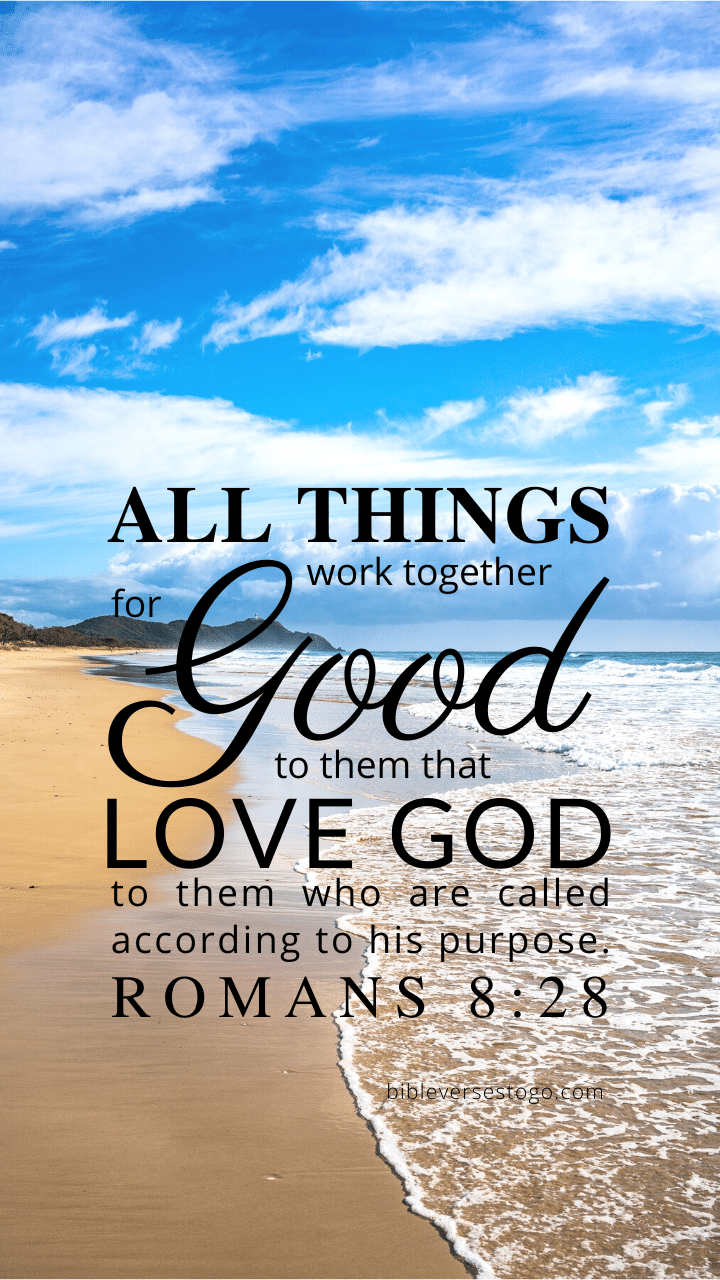 Christian Wallpaper – Beach2 Romans 8:28