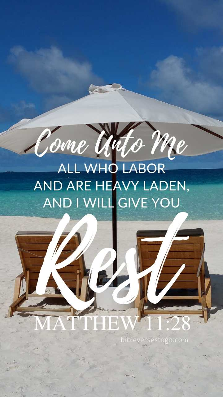 Christian Wallpaper – Beach Chairs Matthew 11:28