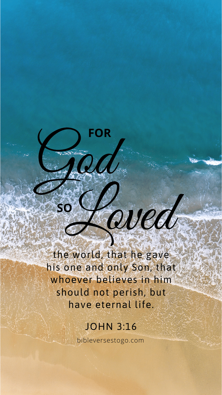 Christian Wallpaper - Beach John 3:16