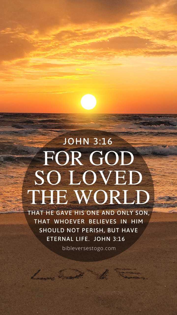 Christian Wallpaper - Beach Love John 3:16