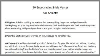 DOWNLOAD - 20 Anxiety Verses