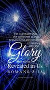 Christian Wallpaper - Blue Fireworks Romans 8:18