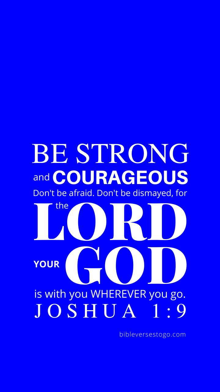 Christian Wallpaper – Blue Joshua 1:9