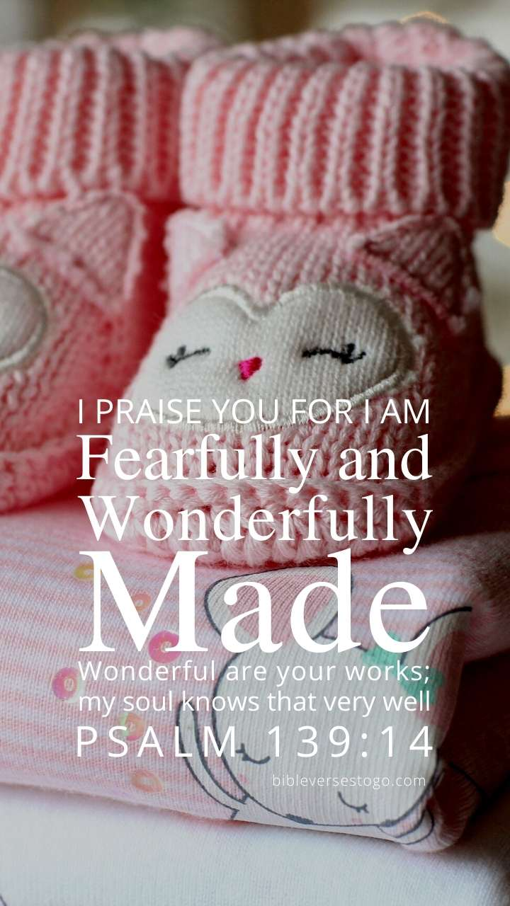 Christian Wallpaper - Booties n Blankets Psalm 139:14