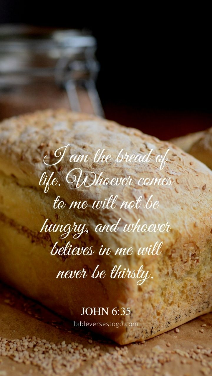 Christian Wallpaper - Bread of Life John 6:35