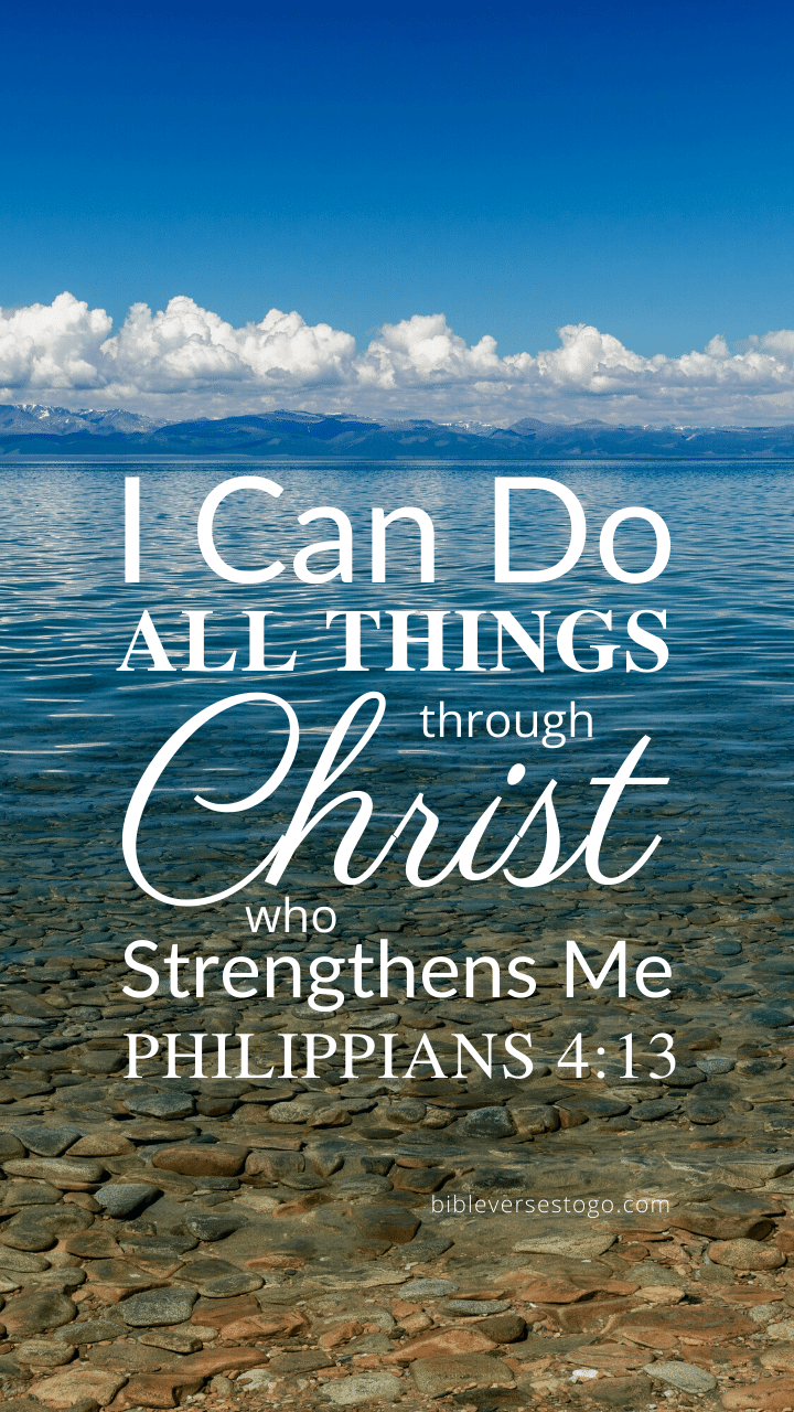 Christian Wallpaper – Calm Lake Philippians 4:13
