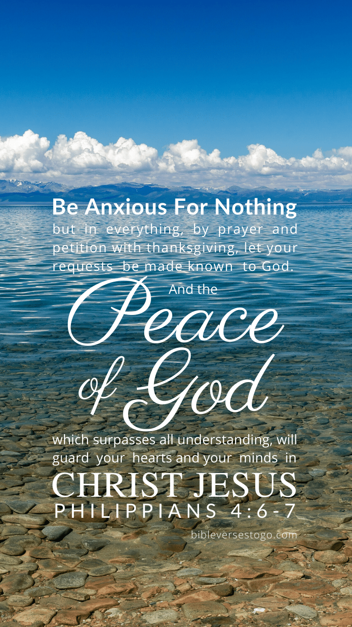 Christian Wallpaper – Calm Lake Philippians 4:6-7