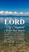 Christian Wallpaper – Calm Lake Psalm 23:1-3