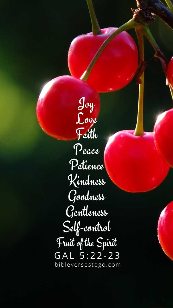 Christian Wallpaper - Cherries Galatians 5:22-23