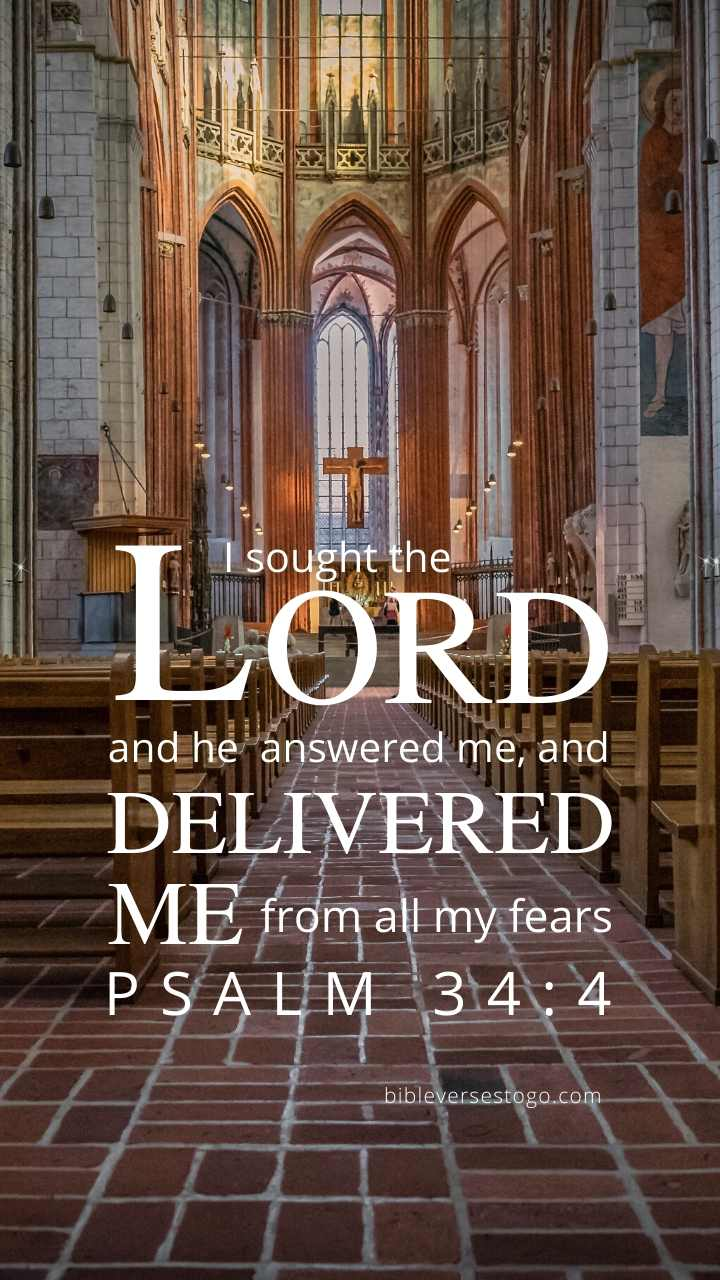 Christian Wallpaper - Church Psalm 34:4