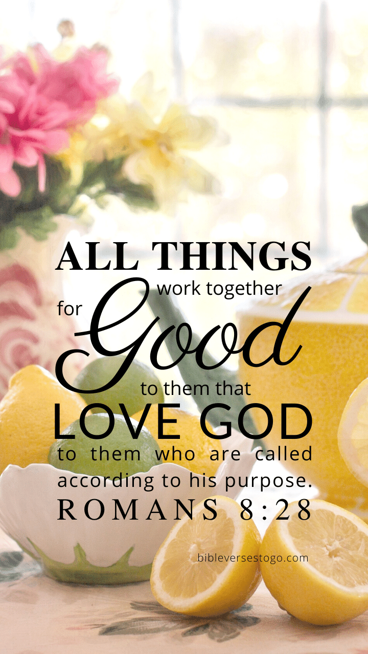 Christian Wallpaper – Citrus Tea Romans 8:28