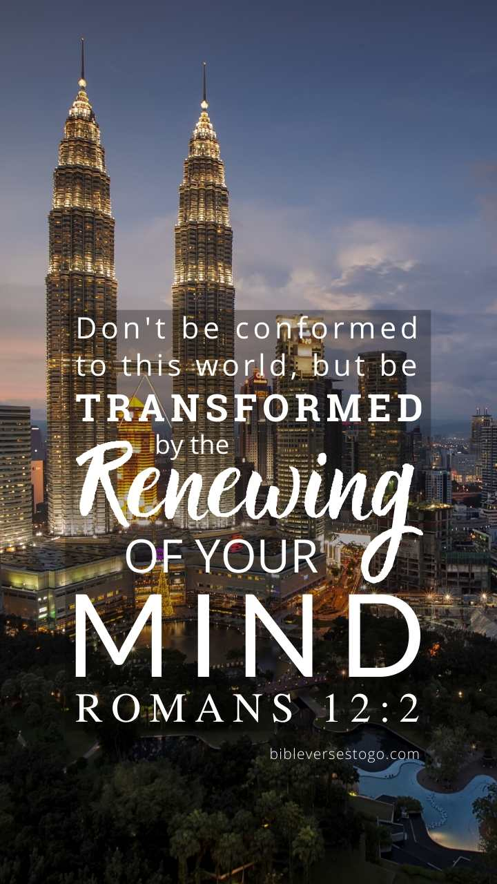 Christian Wallpaper - City Lights Romans 12:2
