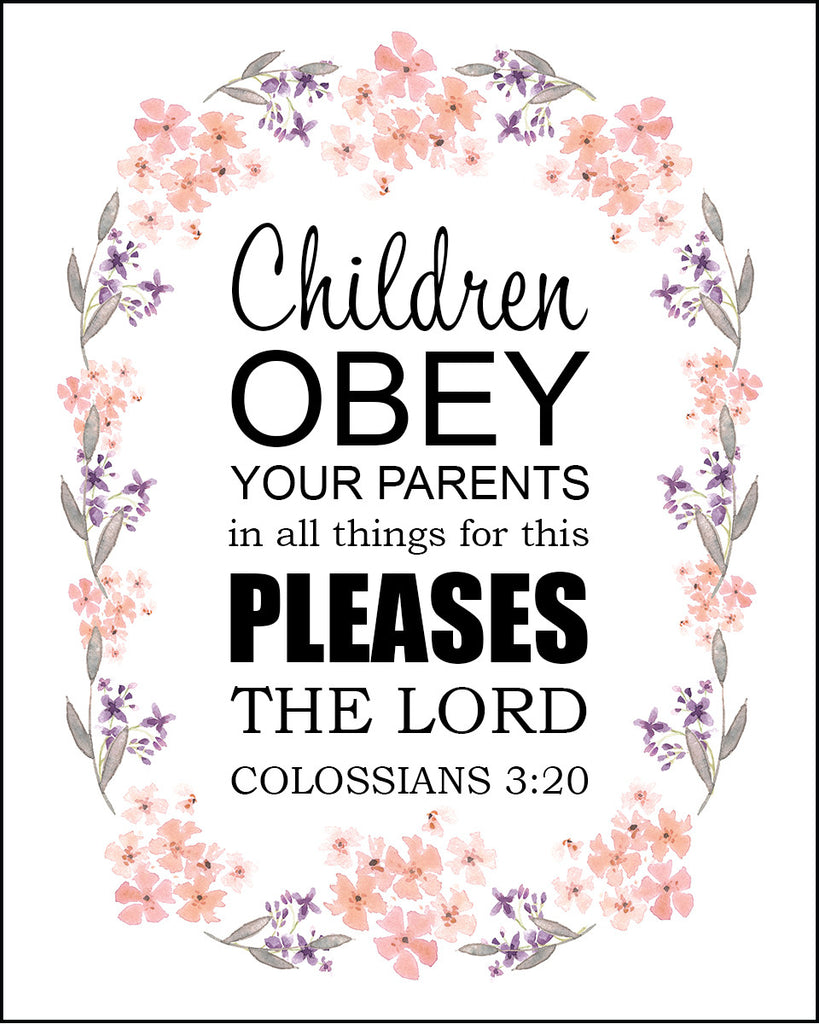 Colossians 3 20 Children Obey Your Parents Free Bible