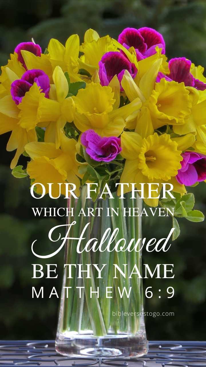 Daffodils Matthew 6 9 Phone Wallpaper Free Bible Verses To Go