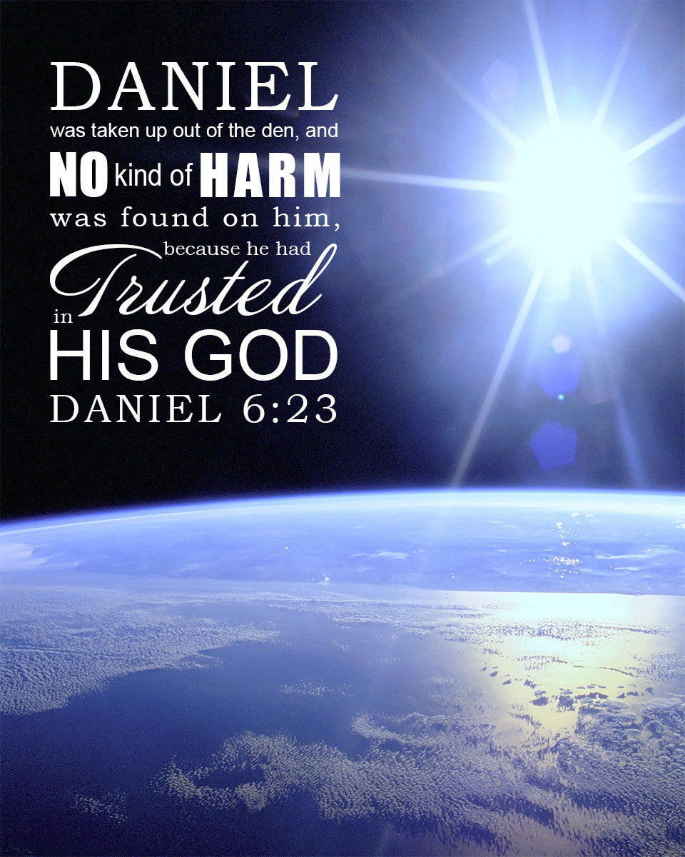 Daniel 6 23 Trusted In His God Free Bible Verse Art