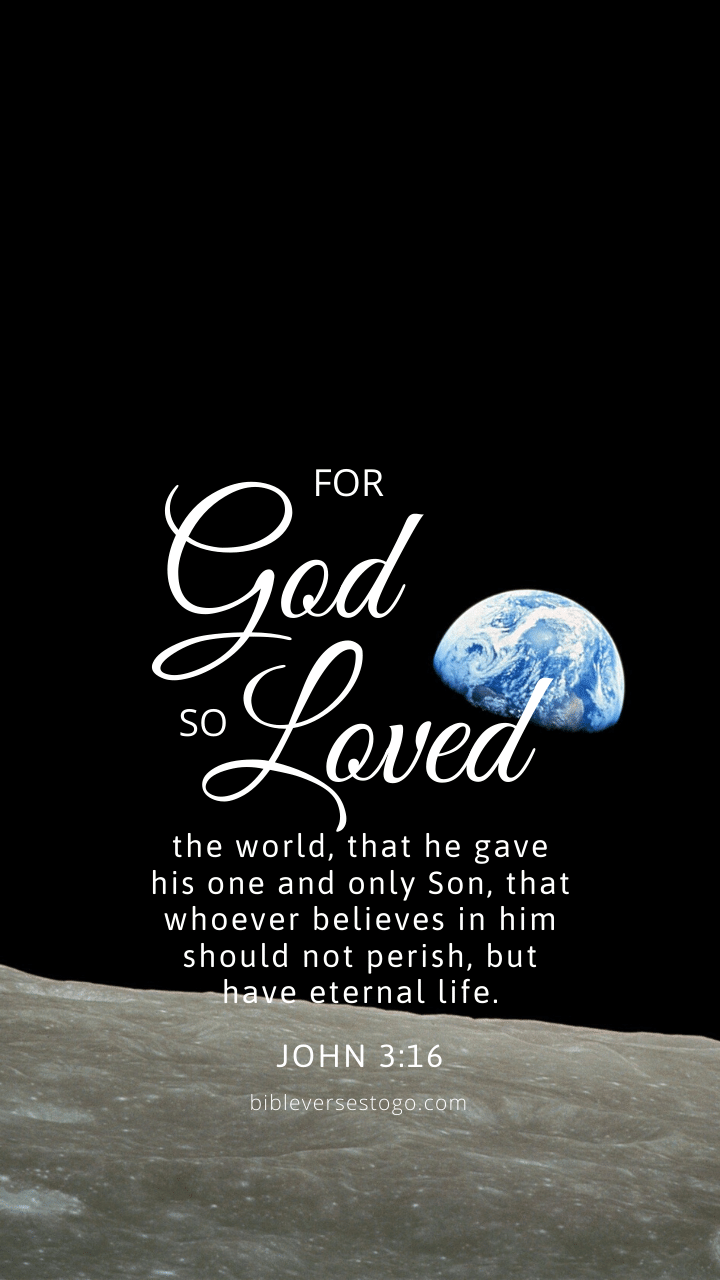 Christian Wallpaper – Earthrise John 3:16