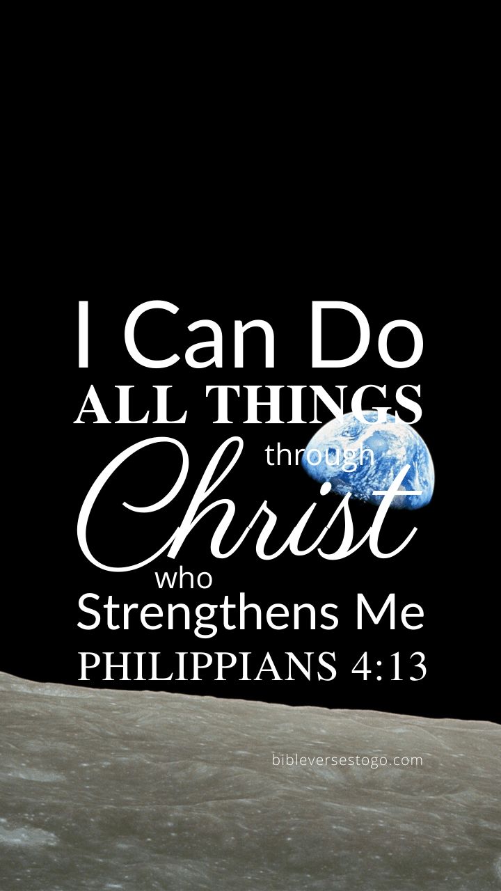 Christian Wallpaper – Earthrise Philippians 4:13