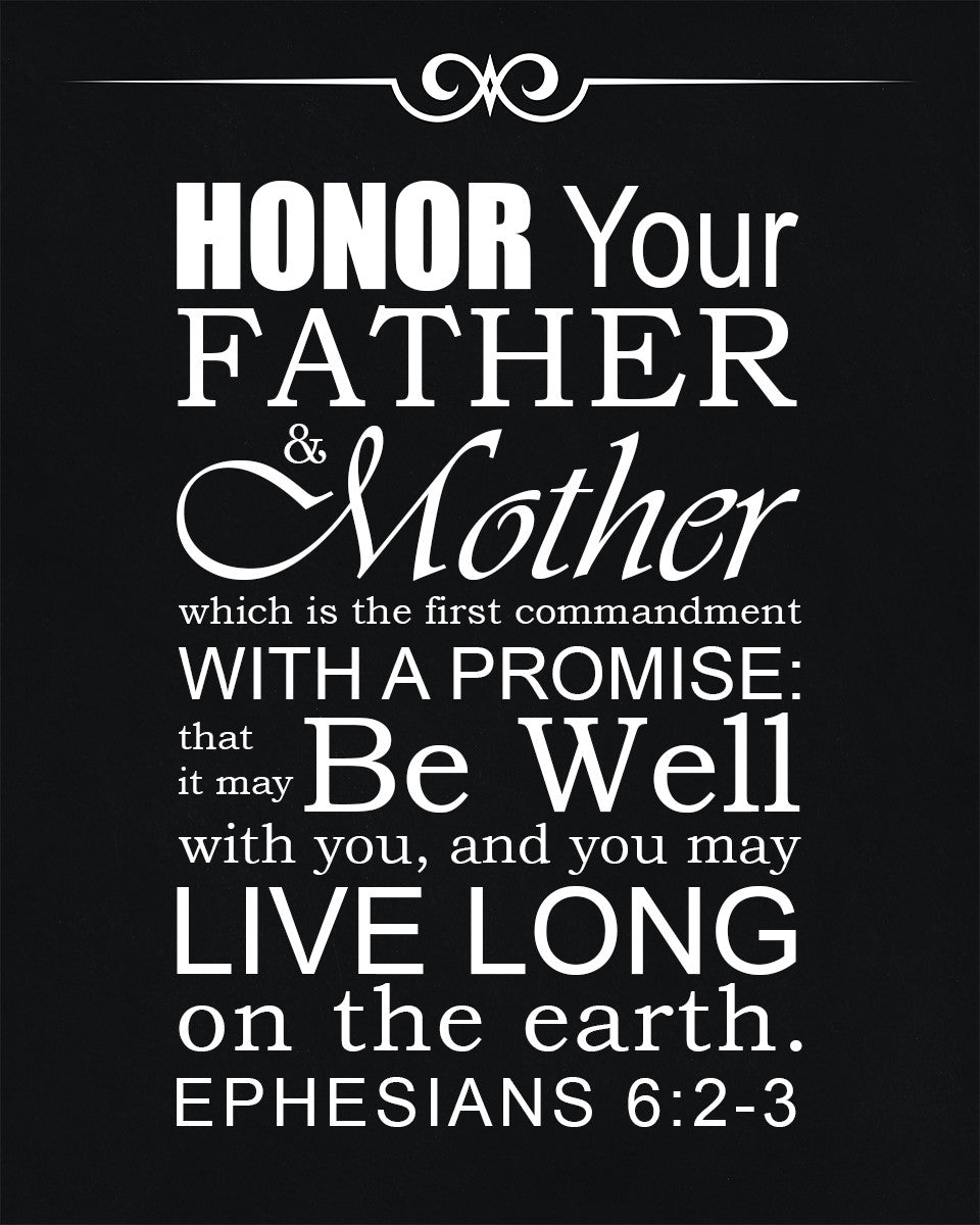 Ephesians 6:2-3 Honor Your Father and Mother - Free Bible