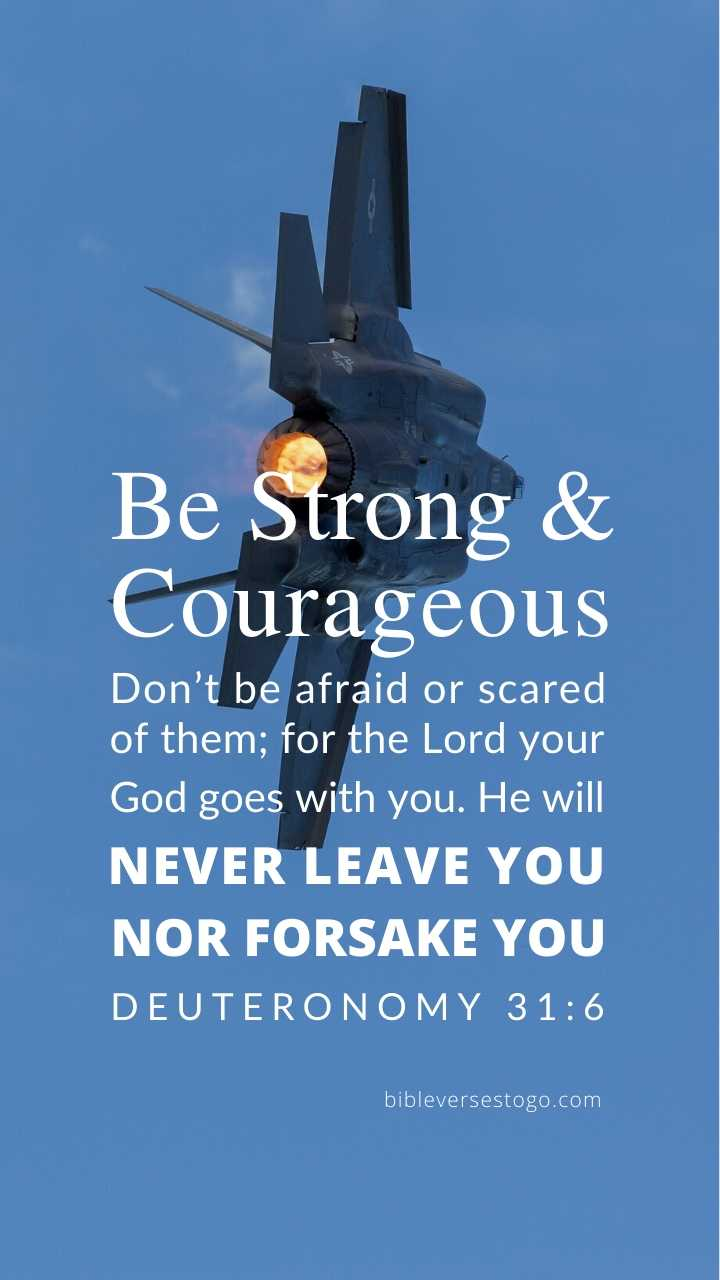 Christian Wallpaper - F-35 Fighter Deuteronomy 31:6