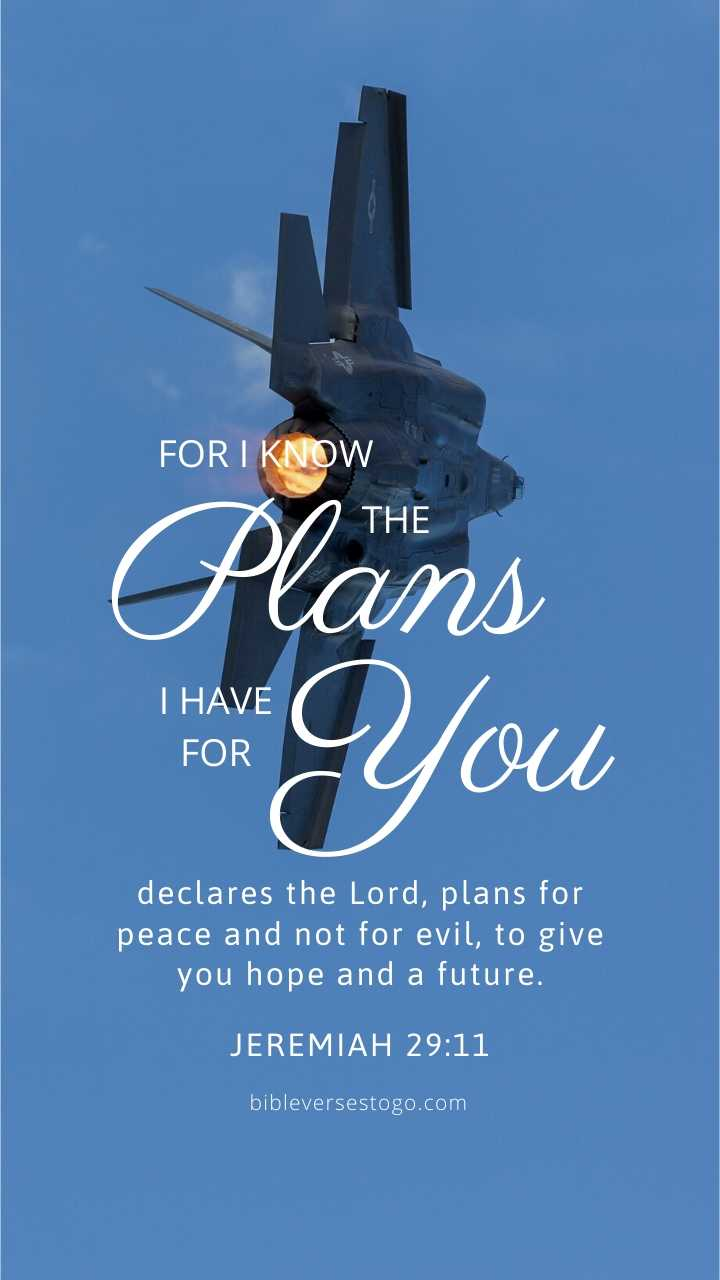 Christian Wallpaper - F-35 Fighter Jeremiah 29:11