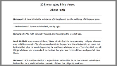 DOWNLOAD - Faith Verses – Bible Verses To Go