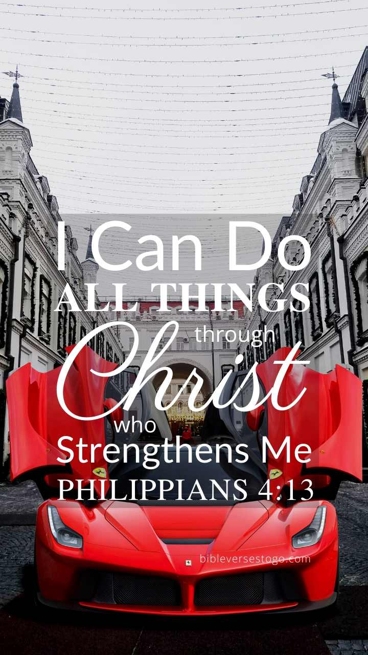 Christian Wallpaper – Ferrari Philippians 4:13