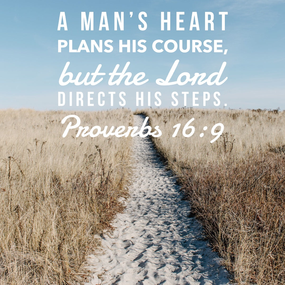 Proverbs 16:9 - The Lord Directs - Bible Verses To Go