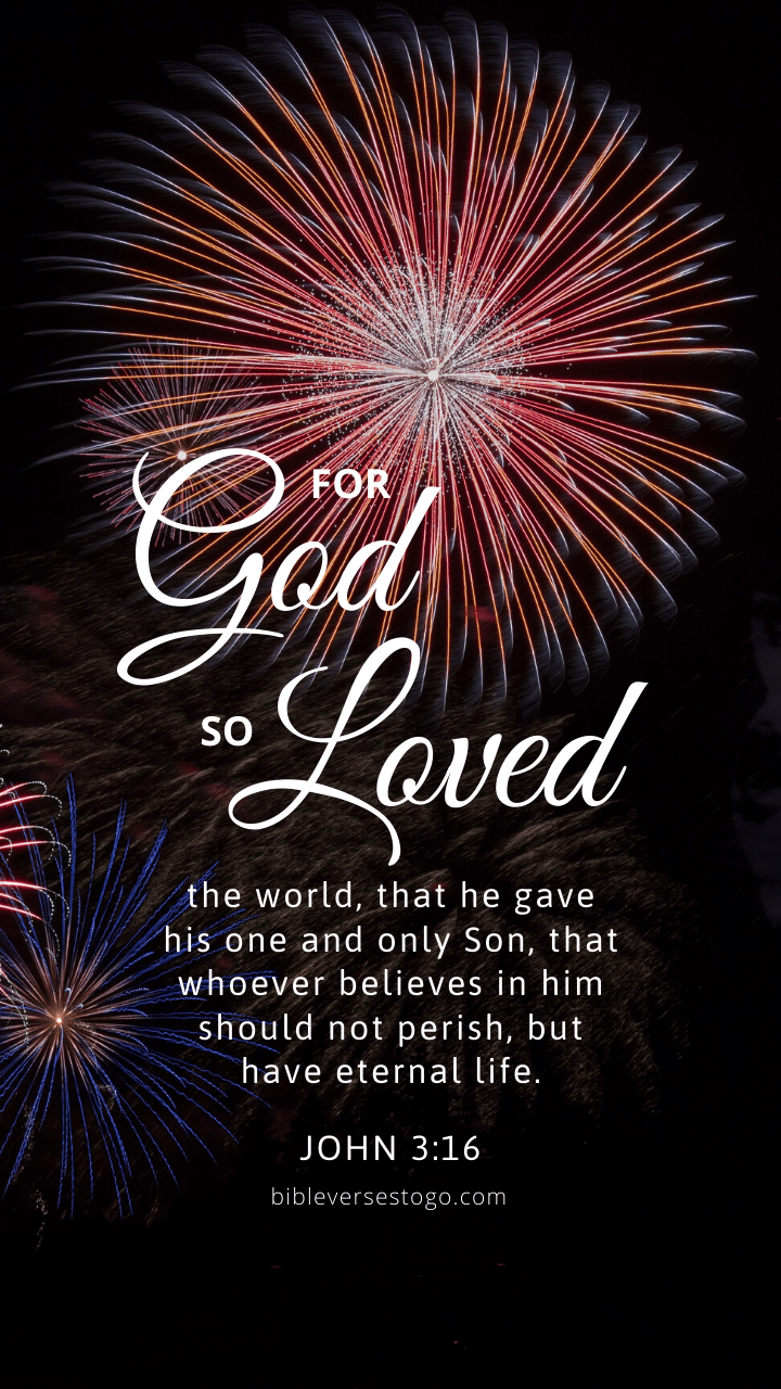 Christian Wallpaper – Fireworks John 3:16
