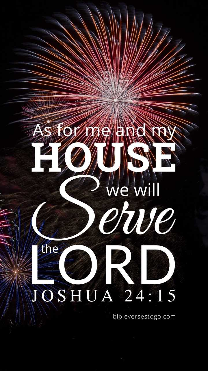 Christian Wallpaper – Fireworks Joshua 24:15