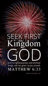 Christian Wallpaper – Fireworks Matthew 6:33