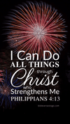 Christian Wallpaper – Fireworks Philippians 4:13