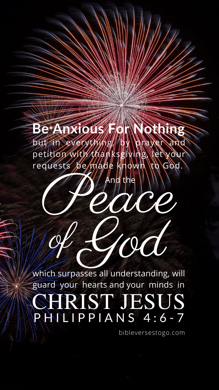 Christian Wallpaper – Fireworks Philippians 4:6-7