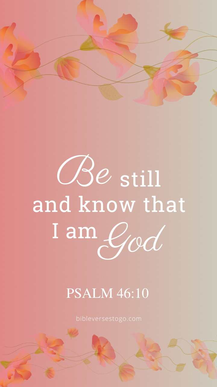 Christian Wallpaper – Floral Pink Psalm 46:10