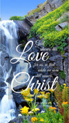 Christian Wallpaper - Flower Falls Romans 5:8