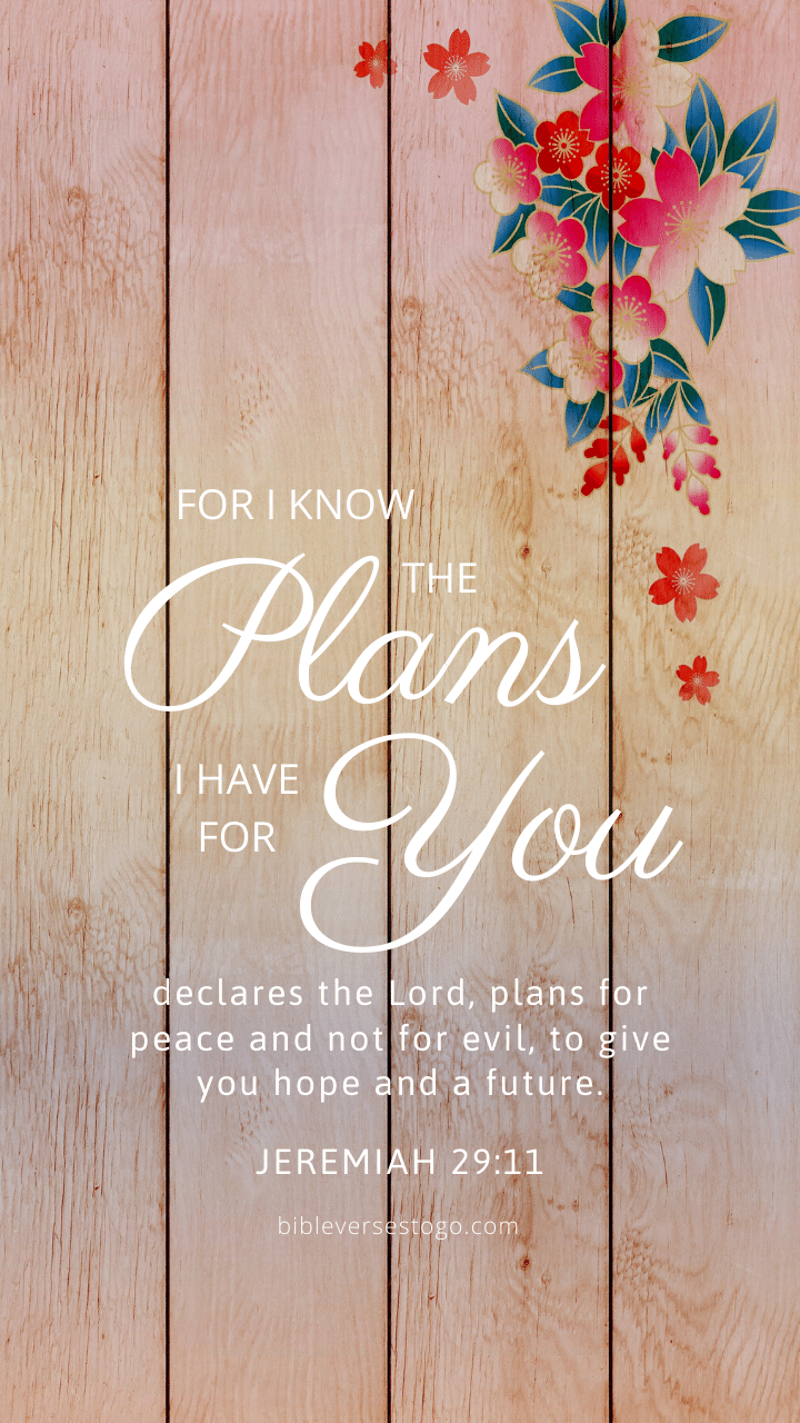 Christian Wallpaper – Flower Wood Jeremiah 29:11