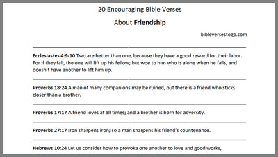 Faith Bible Verses