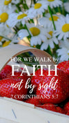 Christian Wallpaper - Fruit N Daisies 2 Corinthians 5:7