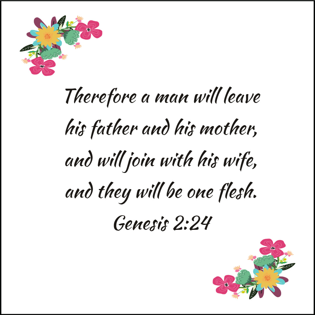 Genesis 2:24 - Join With His Wife - Bible Verses To Go
