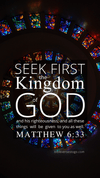 Christian Wallpaper – Glass Spiral Matthew 6:33