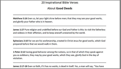 Good Deeds Bible Verses