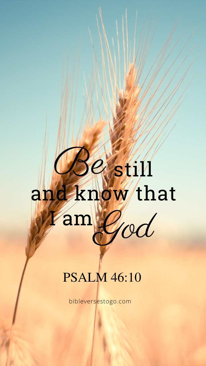 Christian Wallpaper – Grains Psalm 46:10