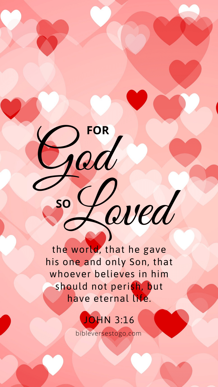 Christian Wallpaper - Hearts John 3:16
