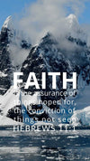 Christian Wallpaper - Icebergs Hebrews 11:1
