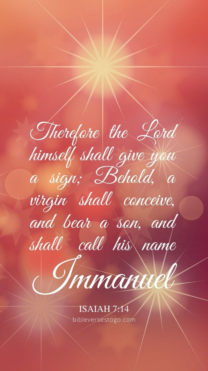 Christian Wallpaper - Immanuel Isaiah 7:14