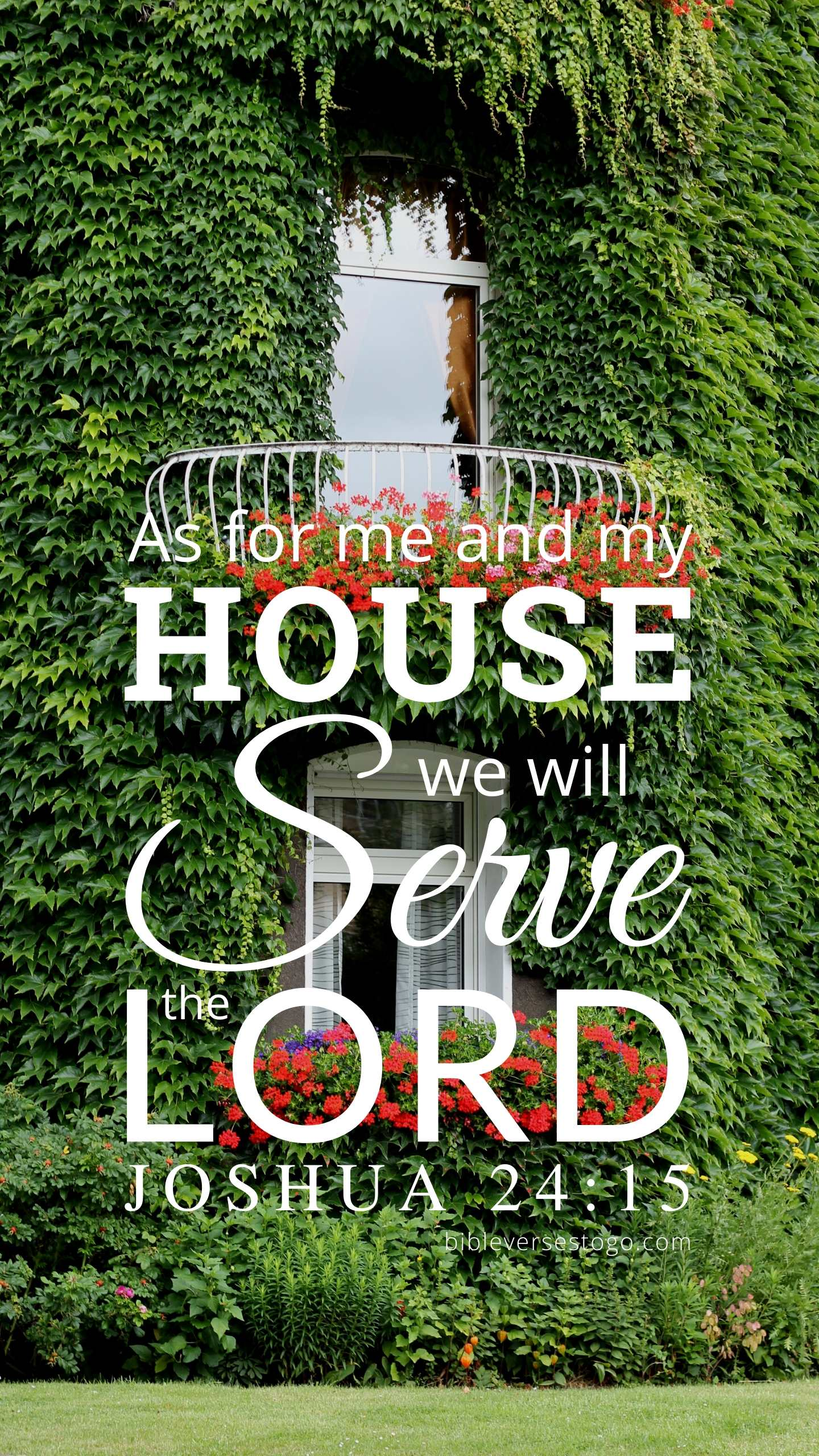 Christian Wallpaper - Ivy House Joshua 24:15